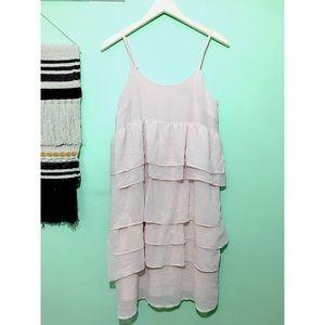 {3/$25} who what wear • layered chiffon dress
